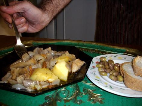 historyofgreekfood- mushrooms stew