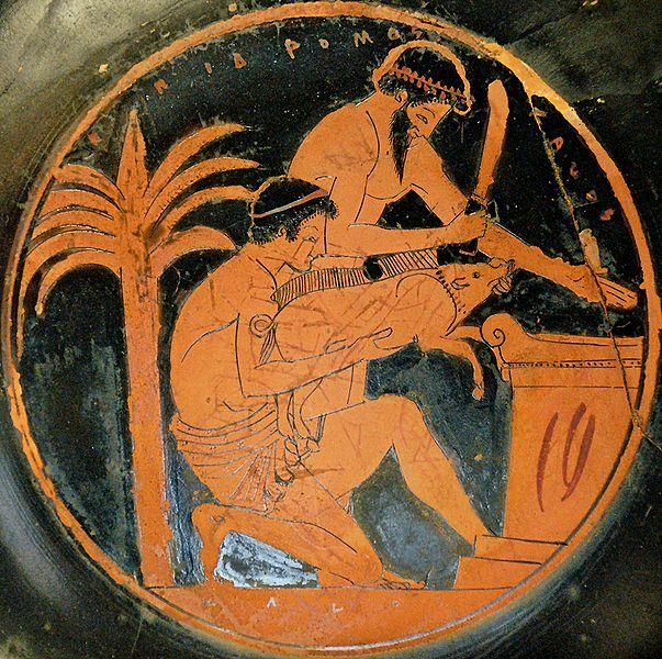 Epidromos painter, 510 - 500 B.C. (Louvre Museum, commons.wikimedia.org/wiki/File:Sacrifice_boar_Louvre_G112.jpg)