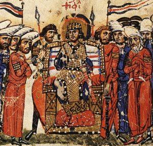 Emperor_Theophilos_Chronicle_of John Skylitzes - history of greek food